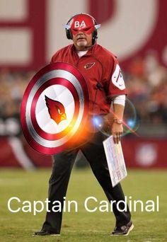 Arizona Cardinals Captain Cardinal Bruce Arians @azcardinals #BirdGang #AZLadyBirds 2015