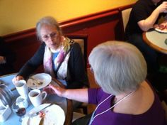 Ina May Gaskin and Gloria Lemay at breakfast Ina May Gaskin, Conference, Birth, Memories, Breakfast, Morning Coffee, Souvenirs, Remember This, Morning Breakfast