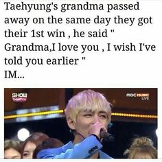 Behind his smiles there is sadness hidden. Love you TaeTae