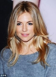 Another shot of this caramel/honey hair color. (Sienna Miller)