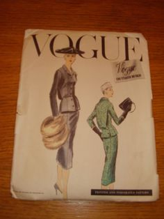 VOGUE COUTURIER 929, ca. 1956; Bust 34; acquired 10/11/12 on eBay for 23.38