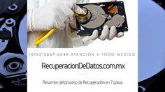 Proceso de recuperacion en 7 pasos  Especialistas en México, para la recuperacion de datos de discos duros dañados y arreglos RAID.  http://recuperaciondedatos.com.mx