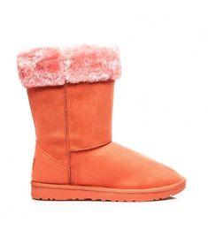 d5ef2d007f4 Oranžové snehule s ružovým kožúškom