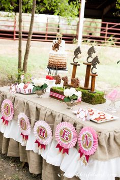 Beautiful Horse Birthday Party by A Blissful Nest