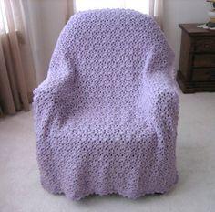 Lavender Lace Throw   FaveCrafts.com