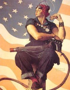 rockwell Rosie the Riveter by Norman Rockwell #art | best stuff