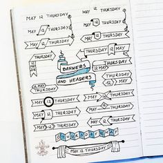 Cheers to the page full of banners and headers inspired by lovely Apsi @therevisionguide. I've made it in Walk-in clinic while waiting for my son's apointment (nothing really happened, just overprotective mommy here). Waiting room tip - use credit card as a ruler #bulletjournal #the100dayproject #100daysofcreativeplanningbyjo