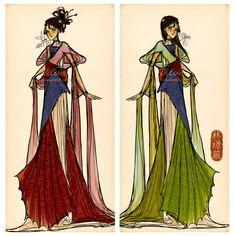 When will my reflection show? (Mulan dress design) by Vilva.deviantart.com on @deviantART