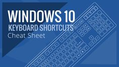 Windows 10 Keyboard Shortcuts cheat sheet chart from Braintek illustrates all of the new and standard keyboard features.