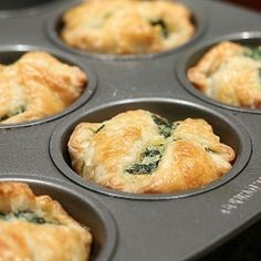 Spinach Puffs - the perfect appetizer this holiday season...