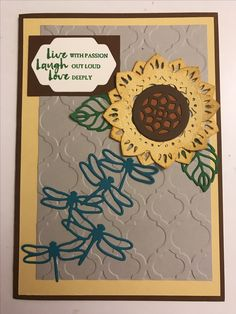 Stampin' Up medallion sunflower