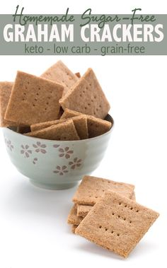 The best recipe for low carb grain-free graham crackers! These are the perfect keto snack and kids love them. Easy to make too! The best recipe for low carb grain-free graham crackers! These are the perfect keto snack and kids love them. Easy to make too! Low Carb Sweets, Low Carb Desserts, Low Carb Recipes, Health Desserts, Free Recipes, Graham Cracker Recipes, Homemade Graham Crackers, Aperitivos Keto, Keto Cookies