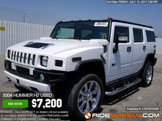 THE DAY ISN'T DONE! Shop our #auction sale before it's over. Hummer H2, H3, and more available for bidding. http://www.ridesafely.com/en/salvage-auto-auction-search/hummer