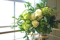 Go glam this St. Patrick's Day with this DIY all-green flower arrangement. Get more shamrockin' DIY ideas here >> http://www.diynetwork.com/made-and-remade/learn-it/shamrockin--ideas-for-st--patrick-s-day?soc=pinterest