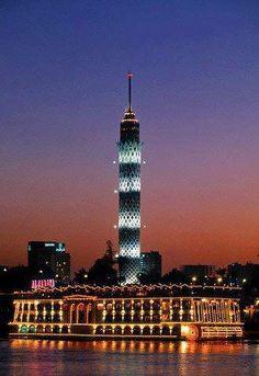 Cairo Tower at night