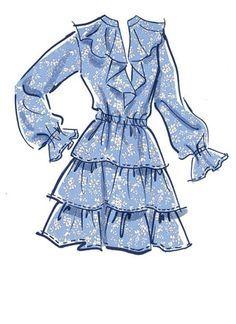 Dress Design Drawing, Dress Design Sketches, Fashion Design Sketchbook, Fashion Design Drawings, Clothes Design Drawing, Vintage Fashion Sketches, Art Sketchbook, Fashion Drawing Dresses, Fashion Illustration Dresses