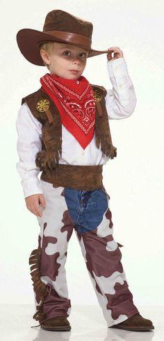 Cowboy Costume Child Cow Print Hat Vest Bandana Chaps Wild West Western Boys Kid