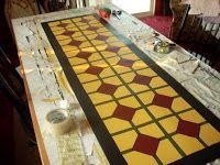 Gettysburg Homestead: DIY Painting a floor cloth tutorial