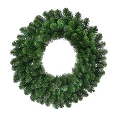 Creative Displays 30 Deluxe Faux Oregon Fir Pre-Lit Wreath (30 Inches; 3 Pounds), Green (Plastic)