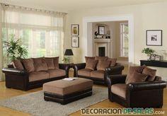 sofás bicolor en marrón