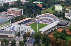 Andrův Stadion - SK Sigma Olomouc, Czech Republic Football Stadiums, Opera House, Mansions, Architecture, Czech Republic, House Styles, Tattos, Building, Soccer