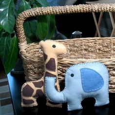 Safari Stuffed Animal PATTERNS  PICK 2  Sew by LittleHibouShoppe, $7.00