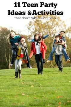 BE THE FUN HOUSE! 11 Teen Party Ideas and Activities that dont take much prep