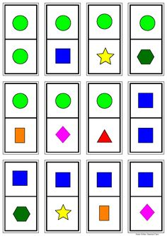 Domino by Juanma Cano via slideshare Preschool Learning Activities, Creative Activities, Preschool Activities, Activities For Kids, Printable Shapes, Printable Board Games, French Language Lessons, Math Literacy, Math For Kids