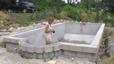 How to build a walk in freezer very detailed regarding - Cinder block swimming pool construction ...