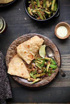 Sinfully Spicy - Bhindi Do Pyaza, Okra Stir fried With Onions