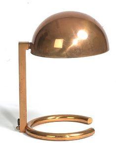 1930.fr Jacques Adnet modernist lamp - Art deco sculptures bronze clocks vases