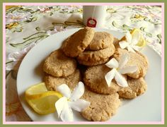 Lemon Cookies - delectable lemony cookies to enjoy with your tea or coffee.