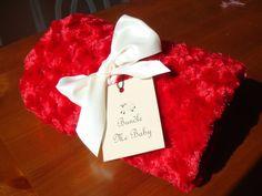 **Black Friday Promo - FREE SHIPPING** Christmas Red Minky Swirl Baby/Child's Blanket