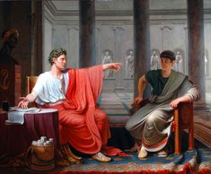 The Emperor Augustus Rebuking Cornelius Cinna for His Treachery by Etienne-Jean Delécluze