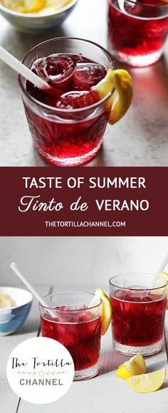 Get a taste of Summer with this delicious Tinto de Verano cocktail