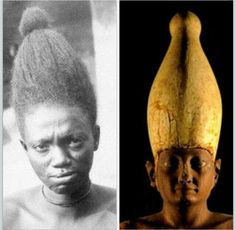 Egyptian crowns were designed after African hairstyles.