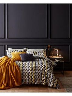 Content By Terence Conran Offset Duvet Cover Set - Print - Super King