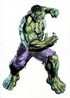 Hulk (Watercolor) (Acuarela) José Martín