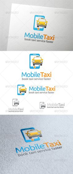 Mobile Taxi Logo — Photoshop PSD #transportation #online • Available here → https://graphicriver.net/item/mobile-taxi-logo/6518806?ref=pxcr