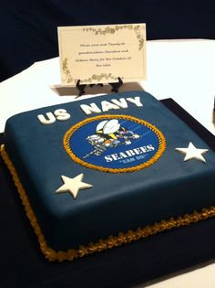 There is not much that you can give to your 90 year old Grandfather. Navy Birthday, 70th Birthday Parties, Grad Parties, Military Cake, Military Party, Military Retirement, Retirement Cakes, Retirement Parties, Retirement Ideas