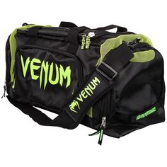 Venum Trainer Lite Sport Gym Bag (Black/Neo Yellow)