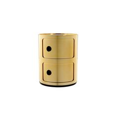 Discover the Kartell Componibili Storage Unit - Gold - Small at Amara