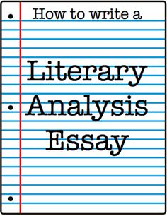 College City Crazy: How to Write a Literary Analysis Essay