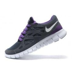 the best attitude f7af9 49dcd Nike Free Run 2 Womens Carbon Gray Purple Running Shoes