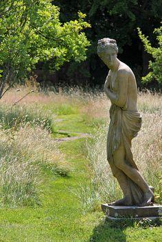 Statue in Virginia Woolf's Garden, Monk's House, Sussex, England, via Lizzie927, Flickr