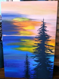 I painted this large canvas as a Christmas gift for my friend Kristen . It is A marriage of imagination and a photo I saw once... By Jody Vitarelli 2013