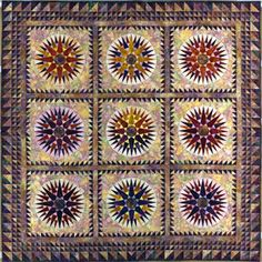 Mariner's Compass Quilts - Reach for the Stars from Brenda Henning's Bear Paw Productions