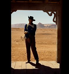 "John Wayne, en ""Centauros del Desierto"" (The Searchers), 1956"