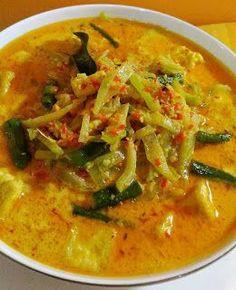 Resep Masakan nusantara: LODEH Veggie Recipes, Fish Recipes, Asian Recipes, Soup Recipes, Cooking Recipes, Healthy Recipes, Recipies, Desserts Menu, Food Menu