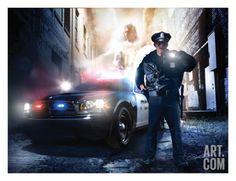 Police Artwork - Police Officer Print by Danny Hahlbohm at Art.com